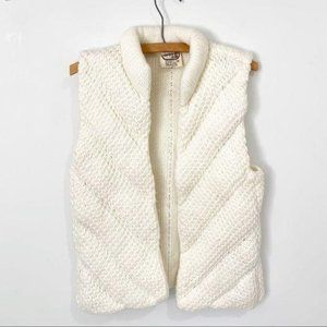 Vintage Puffer Vest Quilted 70s 80s Size Medium
